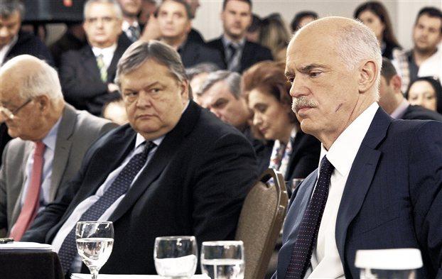 «Κινδυνεύει η κυβέρνηση εξαιτίας σου» λέει ο Βενιζέλος στον Γ. Παπανδρέου