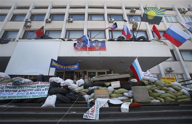 Οι φιλορώσοι διαδηλωτές στην Ουκρανία απορρίπτουν την συμφωνία της Γενεύης