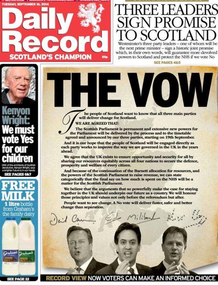 «Χρυσώνουν» τους Σκωτσέζους για να ψηφίσουν «όχι»