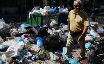 Xιλιάδες τόνοι σκουπίδια στους δρόμους